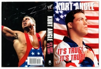 Kurt Angle autographed It's True! It's True! hardcover book