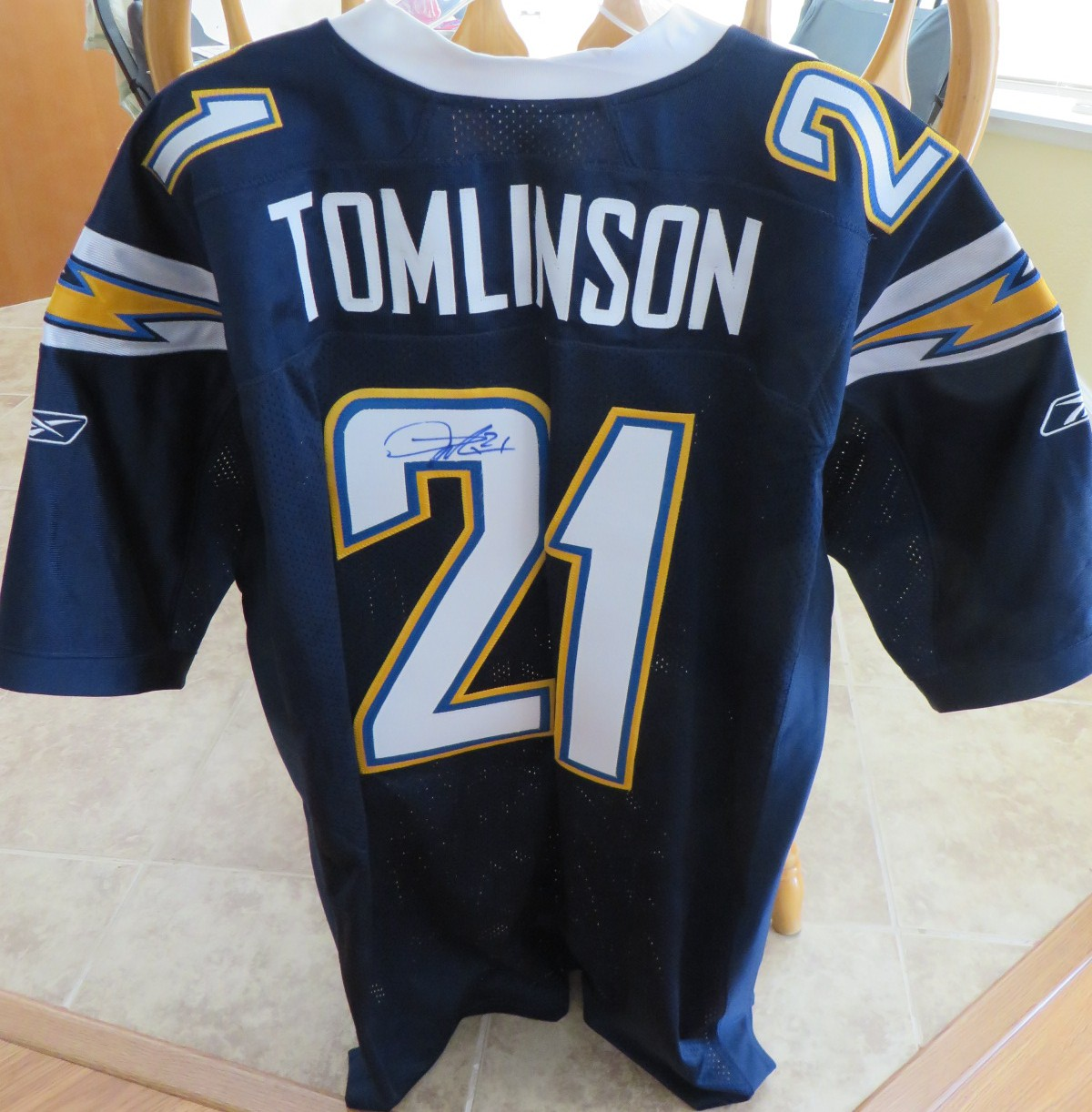 San Diego Chargers Basketball Jersey: LaDainian Tomlinson Autographed San Diego Chargers 2007