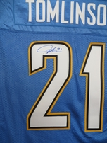 LaDainian Tomlinson autographed San Diego Chargers authentic Reebok NFL Equipment stitched jersey