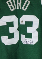 Larry Bird autographed Boston Celtics stitched green authentic style jersey