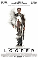 Looper set of 2 mini movie posters (Joseph Gordon-Levitt & Bruce Willis)