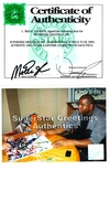 Magic Johnson autographed Los Angeles Lakers 16x20 poster size photo (fighting Larry Bird for rebound)