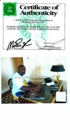 Magic Johnson autographed Los Angeles Lakers 16x20 poster size photo (guarded by Michael Jordan)