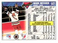 Mark Messier New York Rangers 1993-94 Topps Premier promo or sample card
