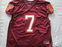 Michael Vick Virginia Tech Hokies authentic Nike stitched mesh maroon 2XL jersey NEW