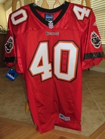 Mike Alstott Tampa Bay Buccaneers red Adidas authentic 1998-2001 game model jersey NEW WITH TAGS
