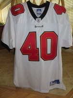 Mike Alstott Tampa Bay Buccaneers white Reebok authentic 2002 game model jersey NEW