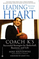 Mike (Coach K) Krzyzewski autographed Leading with the Heart softcover book