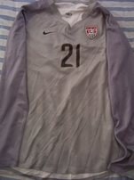 Nicole Barnhart US Soccer 2007 Women's World Cup game issued Nike jersey & uniform