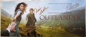 Outlander cast autographed 2014 Comic-Con 6x14 promo card or mini poster (Caitriona Balfe Sam Heughan Lotte Verbeek)