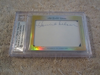 Ozzie Nelson & Harriet Nelson certified autograph 2014 Leaf Executive Collection dual cut signature card #1/1