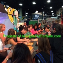 Power Rangers Dino Charge cast autographed 2015 Comic-Con poster (Camille Hyde Yoshua Sudarso)