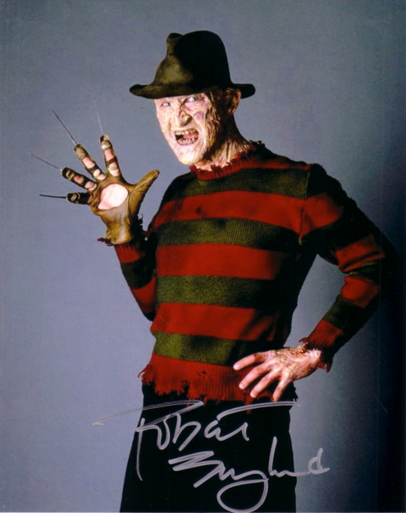 Download Robert Englund autographed Freddy Krueger 8x10 photoRobert Englund Freddy Krueger