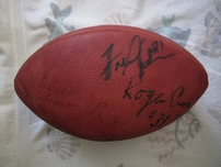 Jerry Rice Roger Craig Fred Dean Dwight Hicks Keena Turner autographed NFL game model football