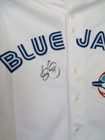 Shawn Green autographed Toronto Blue Jays authentic Russell Athletic 1993 rookie jersey