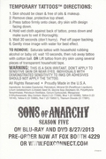 Sons Of Anarchy 2013 Comic Con Exclusive RIP OPIE Promo Temporary