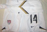 Stephanie (Lopez) Cox autographed US Soccer 2007 Women's World Cup game issued Nike jersey & uniform