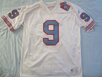 Steve McNair Tennessee Oilers 1998 authentic Logo Athletic white stitched jersey NEW