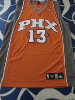 Steve Nash Phoenix Suns authentic Adidas orange game model stitched jersey