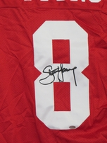 Steve Young autographed San Francisco 49ers authentic Wilson game model jersey (Mounted Memories)