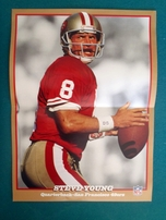 Steve Young San Francisco 49ers 1993 Wheaties mini foldout poster