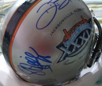 Tedy Bruschi Deion Branch Corey Dillon autographed New England Patriots Super Bowl 39 mini helmet
