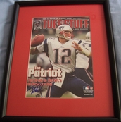 Tom Brady autographed New England Patriots 2002 magazine cover matted & framed