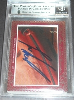 Trevor Hoffman & Lee Smith certified autograph 2012 Leaf Executive Masterpiece Dual Cut Signature card #1/1