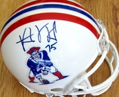 Vince Wilfork autographed New England Patriots throwback mini helmet