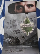 Wayward Pines cast autographed 2014 Comic-Con poster (Matt Dillon Carla Gugino Toby Jones Melissa Leo M. Night Shyamalan)