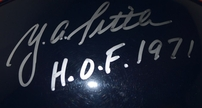 Y.A. Tittle autographed New York Giants authentic Pro Line full size throwback helmet (Steiner)