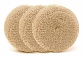 1-Pad 100% Twisted Wool Cutting Pads, 3 pack