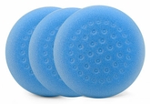1-Pad Cyan Foam Heavy Polishing Pads, 3 Pack