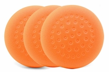 1-Pad Orange Foam Light Cutting Pads, 3 pack