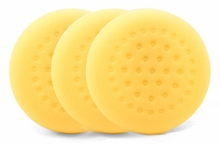 1-Pad Yellow Foam Cutting Pads, 3 pack
