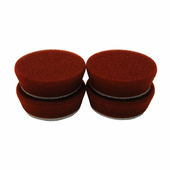 2 inch Medium Maroon Heavy Polishing Pad - 4 Pack