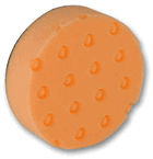 2 Pack of 4 inch CCS Spot Buffs Orange Pads