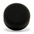3 Inch Flat Black Finishing Foam Pads - 2 Pack