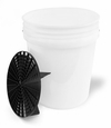 5 Gallon Professional Wash Bucket with Grit Guard - CLEAR