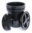 5 Gallon Wash Bucket Combo - BLACK