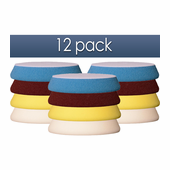 "6 Inch Buff & Shine Uro-Tec Foam Pads 12 Pack - You Pick! <font color=""red""><strong>FREE BONUS!</strong></font>"