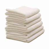 Arctic White Microfiber Towel, 16 x16 inches, 6 Pack