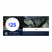 Autopia Car Care Gift Certificate $25