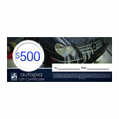 Autopia Car Care Gift Certificate $500