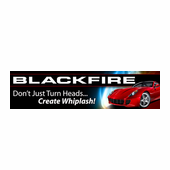 BLACKFIRE Garage Banner, 14 x 55 inches