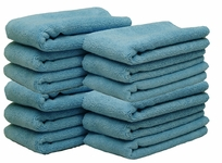 Blue All Purpose Microfiber Towels 12 Pack