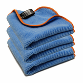 Blue SilverClean Interior Detailing Towels, 11 x 11 inches � 3 Pack