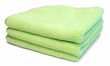 Bright Green Microfiber Towel, 3 Pack