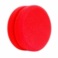 Buff and Shine Red Foam Wax & Sealant Applicator Pad with Notched Center (2 Pack)