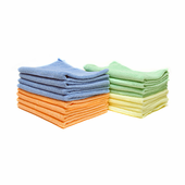 Color-Coded Microfiber Bulk Detailing Towels - 16 Pack